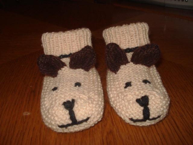 Botosei tricotati catelusi