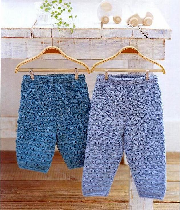 "Pantaloni crosetati ""Baby-blue"""